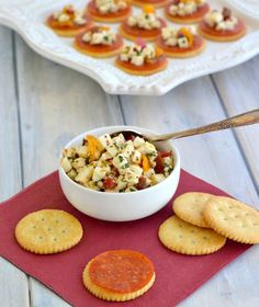 Easy appetizer recipe using  Ritz crackers