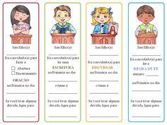 Primária - Marcadores com Designações do Tempo de Compartilhar