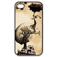 Retro Skulls and Roses Cover Case for iPhone 4 4S 5 5S 5C 6 6S Plus Sumsung Galaxy S3 S4 S5 Mini S6 S7 Edge Plus A3 A5 A7 J5 J7