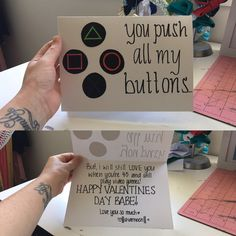 Diy Playstation / video game card for a gaming partner , I did this one for valentines thanks to the person that posted it  inspiration 101