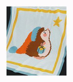 Crochet Pattern - Baby Blanket Pattern - Christmas Hedgehog - Christmas Baby Blanket - PDF Crochet Pattern - Christmas Baby Crochet Afghan by PatternWorldUK on Etsy
