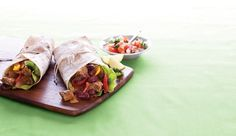 Healthy, low fat wraps with a zing! They are rich in fibre too.