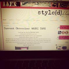 Washi Tape.  Http://www.thestyledblog.com  #neon #blogger #washitape