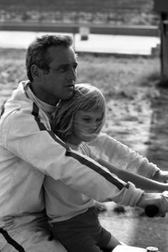 Paul Newman with his daughter.