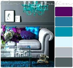 26 erstaunliche Wohnzimmer-Farbschemata – Zimmerdekoration 26 amazing living room color schemes A color scheme can set the tone for your living room. The colors you choose for your decorations affect the atmosphere of your living room … Living Room Color Schemes, Paint Colors For Living Room, Living Room Grey, Bedroom Colors, Living Room Designs, Colour Schemes, Color Combinations, Room Paint, Grey Teal Bedrooms
