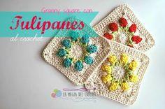 La Magia del Crochet: Granny square con Tulipanes al crochet