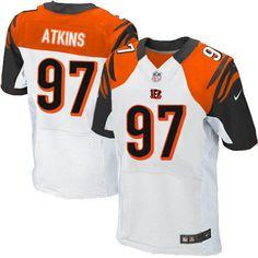 Nike Bengals #97 Geno Atkins White Mens NFL Elite Jersey