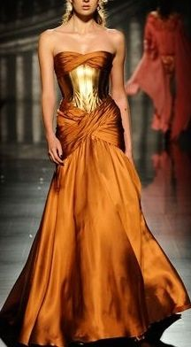 Orange wedding gown. Don't know who made this, but it is awesome.