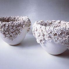 Overflowing flowering vessels in porcelain #libertyopencall