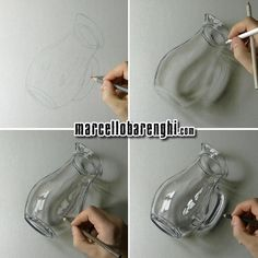 """Marcello Barenghi su Instagram: """"My #drawing of a Glass Pitcher - 3D Art Drawing video: https://www.patreon.com/posts/drawing-of-glass-4475401 #marcellobarenghi #3dart #glass #pitcher"""""""