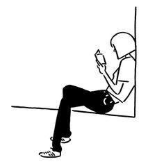Yu Nagaba(@kaerusensei) • Instagram 사진 및 동영상 Minimal Drawings, Easy Drawings, Character Drawing, Character Illustration, Minimalist Drawing, Simple Illustration, Simple Art, Aesthetic Art, Doodle Art