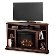 Corner Electric Fireplace and Media Stand from Meijer   For the ...
