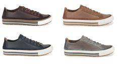 Sportliche Sneaker für Herren im Casual-Style aus Leder, erhältlich in vier verschiedenen Farben, Clarks Nepler Vibe, 99,95 Euro: http://www.clarks.de/p/26103000