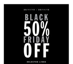 Black Friday 50% Off