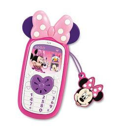 Fisher-Price Disney's Minnie Cell Phone by Fisher-Price. $39.99. Featured adorable cell phone charm. Minie has so many friends to keep in touch with. Number key pad creates different ringtones. Press heart button to hear Minnie speak. Girls will love Minnie stylized cell phone. From the Manufacturer                Minnie has a lot of friends to keep in touch with and so do you. Minnie stylized cell phone, complete with a Minnie cell charm and a bow on top. Pres...