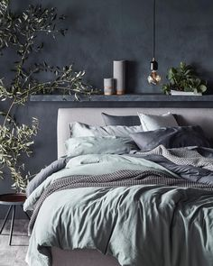 Home Decor Bedroom .Home Decor Bedroom Blue Bedroom, Home Decor Bedroom, Living Room Decor, Interior Livingroom, Bedroom Ideas, Master Bedroom, Casa Loft, My New Room, Home Decor Accessories
