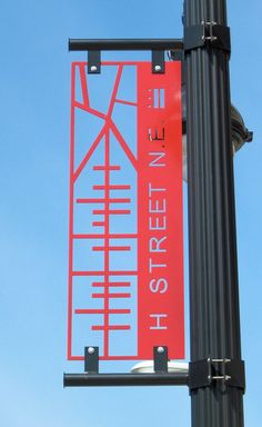 H Street SIGNAGE - architectural, interior, landscape and industrial design all make up environmental graphic design Environmental Graphic Design, Environmental Graphics, Logo Typo, Typography, Street Banners, Wayfinding Signs, Sign System, Exterior Signage, Signage Design