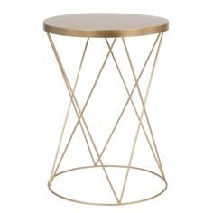 Round matt gold metal side table on Maisons du Monde. Take your pick from our furniture and accessories and be inspired! Hallway Furniture, Sideboard Furniture, Small Furniture, Dining Room Furniture, Living Room Chairs, Dining Room Bench Seating, Sun Lounger Cushions, Decorative Storage Boxes, Metal Side Table