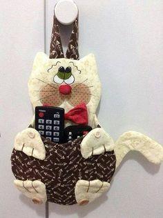 Eu Amo Artesanato: Porta controle remoto, celular, etc com molde
