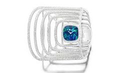 Extremely Piaget cuff watch in white gold with diamonds and opal dial. For everything Piaget, make your way over to www.balharbourshops.com
