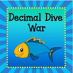 In Decimal Dive War students learn to read and compare decimals. This fun game that we all grew up with is now in an educational version of Decimal Dive War. Students flip over their cards at the same time and read their decimal aloud. The player with the largest decimal wins all cards.