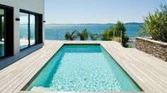 Modern Pool And Spa, Modern Pools, Decks Around Pools, Jacuzzi, Home Projects, Swimming Pools, New Homes, Backyard, Exterior