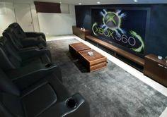 Matthew Perry's media room