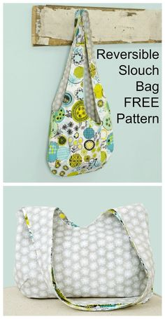 FREE Bag sewing pattern for a slouchy shoulder bag. Bag Sewing Pattern, Bag Patterns To Sew, Pattern Drafting, Sewing Patterns Free, Easy Tote Bag Pattern Free, Free Pattern, Sewing Designs, Easy Sewing Projects, Sewing Projects For Beginners