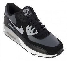 NIKE AIR MAX 90 GS size 4Y black white dark gray wolf gray 307793-097 RETRO 😎