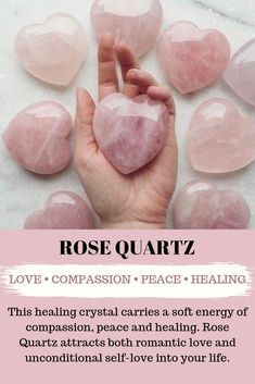 Add the positive and healing energy of Rose Quartz to your everyday life with this beautiful pink crystal. Rose Quartz promotes compassion, romantic love, self love and peace and is the perfect addition to your home decor. #mykitsch #crystals #crystalenergy