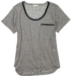 Make this: leather-trimmed tee