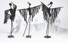 Skulpturelle fugle i Paverpol