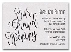 invitation card matter for shop opening