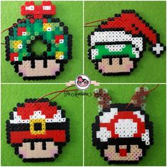 Hama Beads Mario, Pokemon Perler Beads, Hama Beads Disney, Perler Bead Mario, Diy Perler Beads, Pearler Beads, Melty Bead Patterns, Hama Beads Patterns, Minecraft Beads