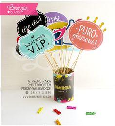 PROPS PARA PHOTOBOOTH. Para todo tipo de evento! lorenzadiseño.com