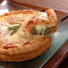 Spinach Stuffed Pizza | Meals.com
