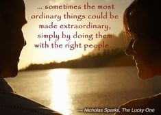 Quote by Nicholas Sparks from The Lucky One