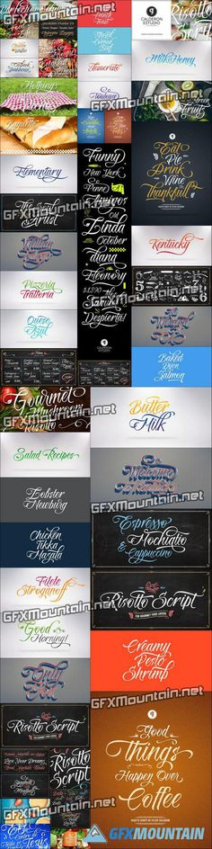 Risotto Script Font Family - 3 Fonts for $30