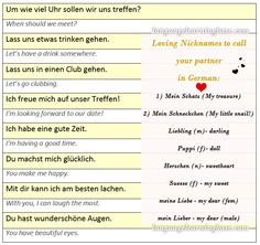 How to Flirt in German: Phrases to Score a Date. - learn German,communication,vocabulary,german,date,love