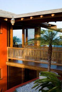 Casa de Praia em Eucalipto Tratado - Minha Casa Rústica