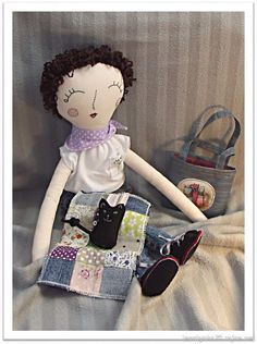 Doll, sewed from photo.