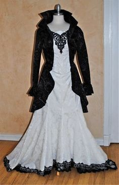 Stardust Gothic Fishtail Corset Wedding Set by RomanticThreads, $950.00  I am convince I was born in the wrong generation!