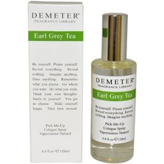 Earl Grey Tea Women Cologne Spray by Demeter, 4 Ounce by Demeter. $29.95. Classified as a citrussy scent. Launched in the year 1996. Recommended for daytime wear. This fragrance contains bergamot, black tea and citrus.. Save 24%!
