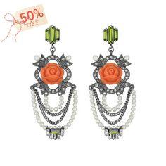 La Belle Rose Chandelier Earrings  https://www.chloeandisabel.com/boutique/loridelarosa    #cybermonday #cyberweekend #sale #chloeandisabel #paris  #pearls #ChandelierEarrings