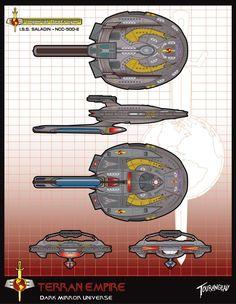 Mirror Universe by stourangeau on DeviantArt Star Trek Fleet, Star Trek Ships, Star Wars, Trek Deck, Mirror Universe, Stark Trek, Starfleet Ships, Star Trek Beyond, Star Trek Starships
