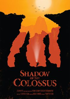 """Excellent posters inspired by one of the most beautiful video games, """"Shadow of the Colossus""""."""