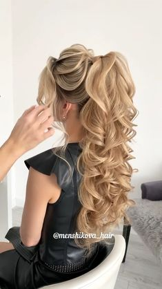 Down Hairstyles For Long Hair, Hairdo For Long Hair, Bride Hairstyles, Glamorous Hairstyles, Wedding Hairstyles Tutorial, Hair Up Styles, Wedding Hair Inspiration, Hair Videos, Hair Looks