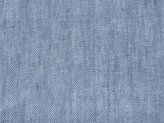 Tissu Lin Bleu Effet Chevron