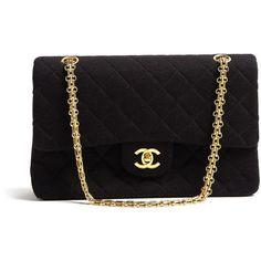 Vintage Heirloom Black 2.55 Classic Chanel Handbag ($3,850) ❤ liked on Polyvore
