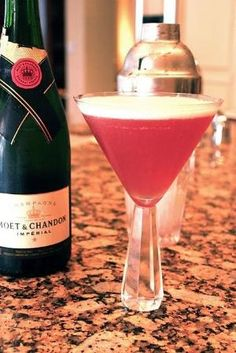 the french martini...vodka, pineapple juice, chambord, champagne by maryellen